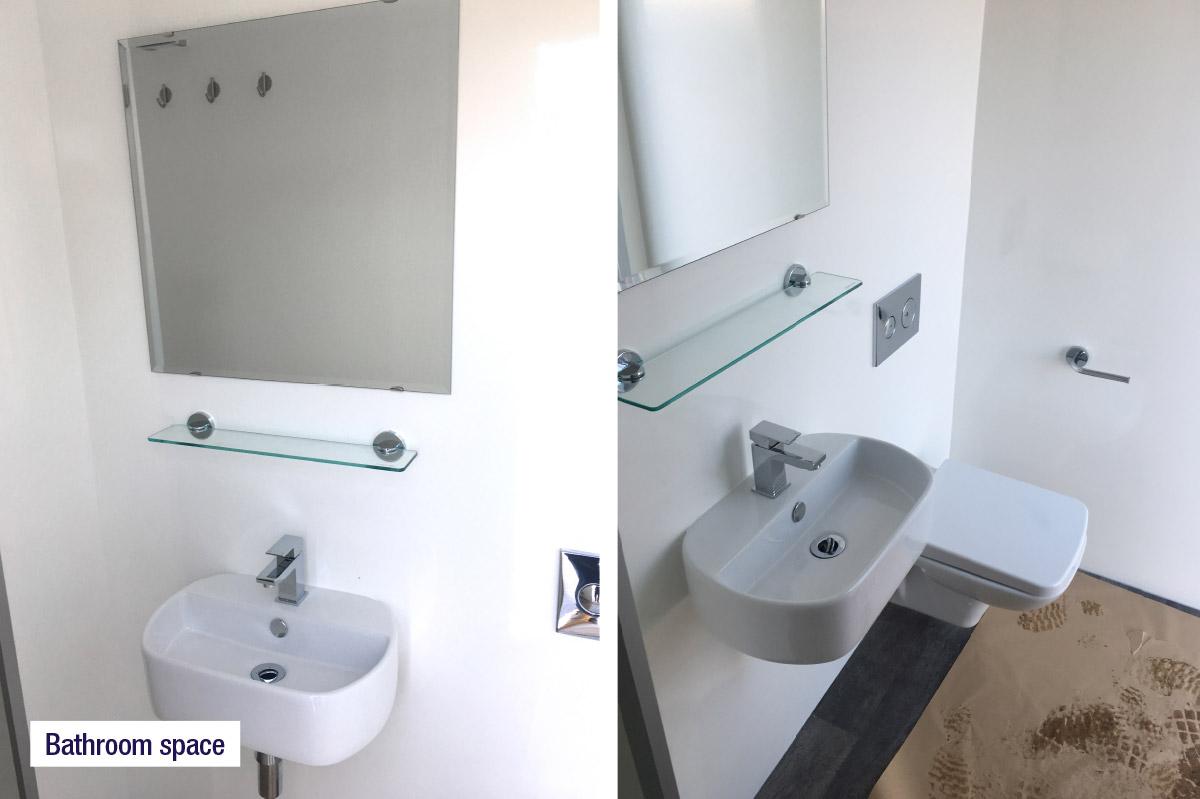 Bathroom, Sink & Toilet Unit | Temporary Home Bathrooms