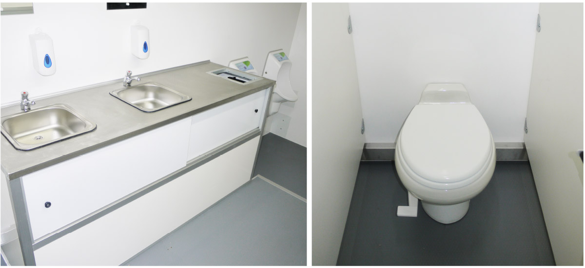shower and toilet unit