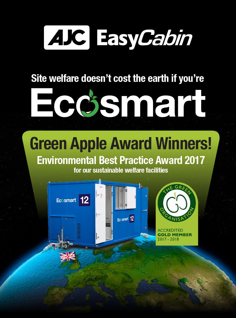 EasyCabin wins a green apple award